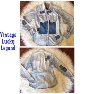Vintage Lucky Legend Palamino Patched Denim Shirt